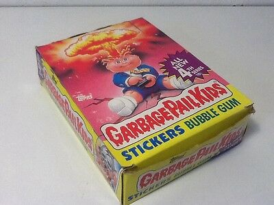 1986 Topps Garbage Pail Kids 4th Series  Full Box 48 Unopened Packs Stickers