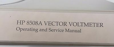 Hewlett Packard 8508A Vector Voltmeter Operating And Service Manual
