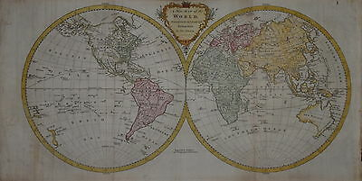 A New Map Of The World By Thomas Kitchin...1780