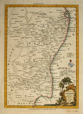A Map Of Coromandel Showing The Seat Of War. For The London Magazine 1754.