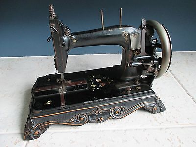 Rare antique cast iron J.G.Graves Shefield sewing machine