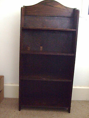 Small, solid wood, 4 shelf bookcase