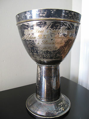 ANTIQUE BOXING TROPHY 1921 Stockholm Silverplate