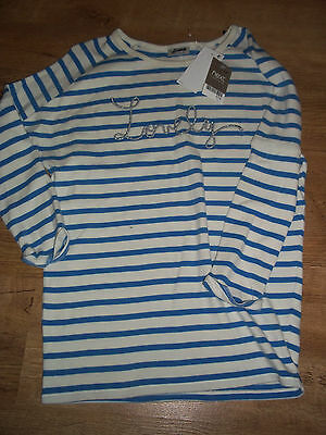 Next girls Jersey long sleeved embroidered lovely jumper top AGE 3 years BNWOT