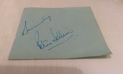 Peter Sellers - Comedy Legend - Hand Signed Vintage Album Page