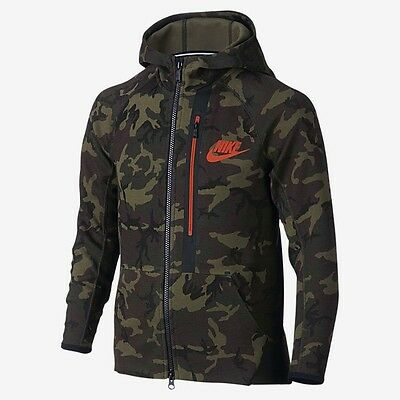 Nike Tech Fleece Allover Print Full-Zip Size XS Extra Small *Childrens* Age 6-7