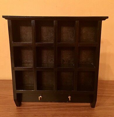 WOODEN Thimble Display Rack & Key Holder Fitted Picture Hooks For Hanging BNIB
