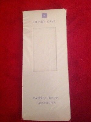Girls Age 11-13 White Tights By Henry Kaye For Bridesmaids Or Flower girls