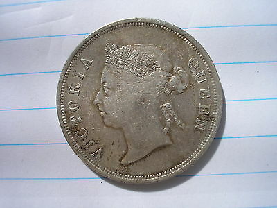 1901 - Straits Settlements - Fifty Cents - 50 Cents - Rare - Queen Victoria