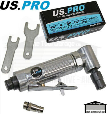 US PRO Tools Angled Head Air Die Grinder 90 Degree Angle NEW 8420