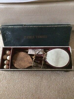 VERY RARE Antique Table Tennis Set - Vintage Early Naive Primitive Old Ancient