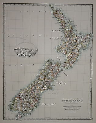 New Zealand Published By Keith Johnston. 1912.