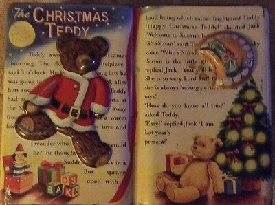 Novelty Biscuit Tin, Book Shaped - The Christmas Teddy