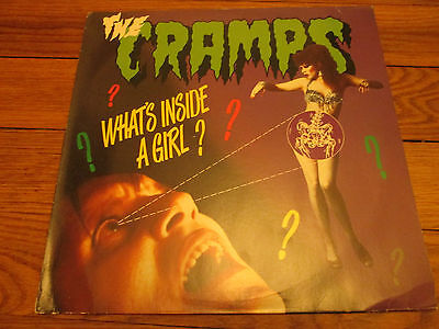 THE CRAMPS what's inside a girl? ECC BIG BEAT 12-inch White vinyl NST 115!