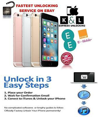 Ee Orange Virgin Unlocking Service For Iphone 3 3Gs 4 4S 5 5S 6 And 6 Plus