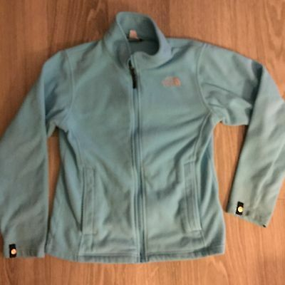 North Face Fleece Jacket Girls Large Baby Blue