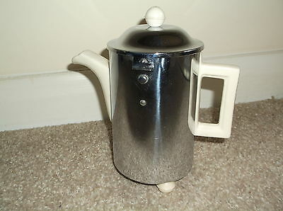 Vintage Heatmaster Chrome Insulated Art Deco Style Coffee Pot