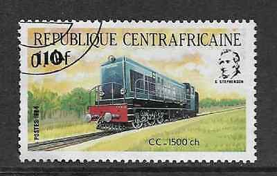 Central African Rep. Postal Issue - 1984 Used Commemorative - Locomotive Cc 1500