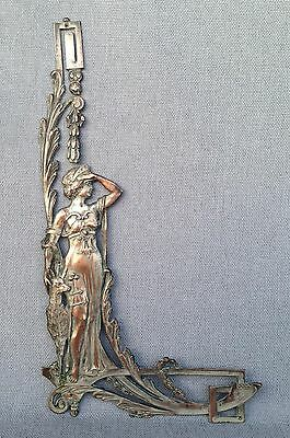 Antique french ornament early 1900's Art-Nouveau regule diana hunting goddess