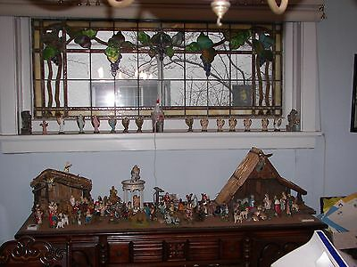 Antique Leaded Stain Glass Window form 1912 Estate 36 X24