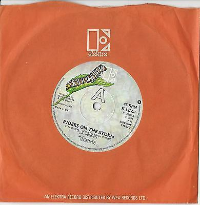 """The DOORS : Riders on the Storm  45 RPM 7"""" Single 1971"""