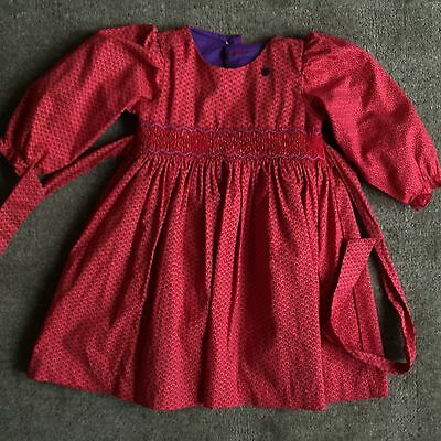 VINTAGE Dress Christmas TRADITIONAL Age 1-2 Party VGC