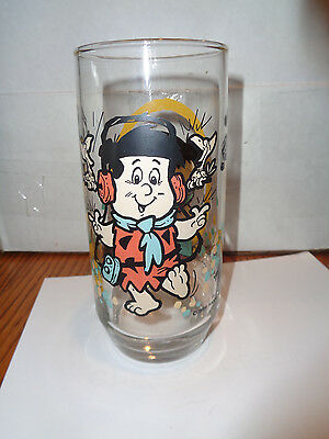 "Vintage - The Flintstone Kids ""Freddy"" Drinking Glass - Pizza Hut -1986"