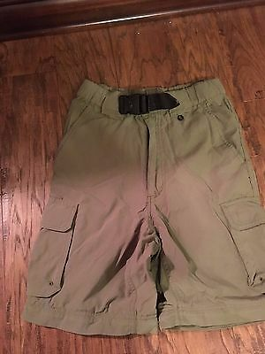 Official Boy Scouts BSA NYLON CARGO Youth Medium SWITCHBACK SHORTS Olive