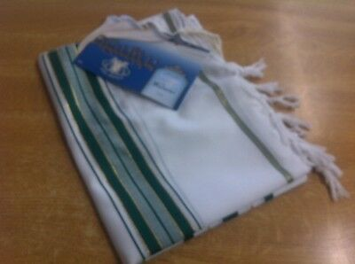 tallit jewish prayer shawl tribe of Levi (  green stripe )