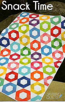 """COLORFUL """"SNACK TIME""""  QUILT PATTERN by JAYBIRD QUILTS - HAS 5 DIFFERENT SIZE"""