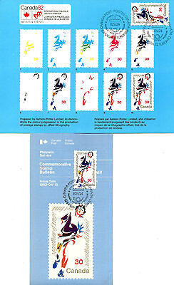 Canada 1982 Rare Terry Fox Commemorative Card & Bulletin With Cancelled Stamp