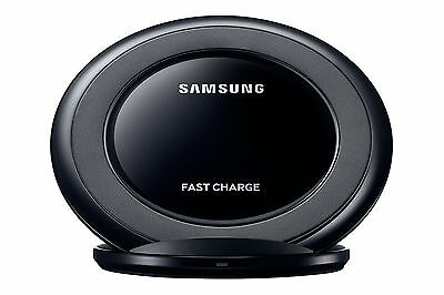 Samsung Galaxy S6/S7/Edge/Note(5&7)Fast Qi Wireless Charger Pad With Stand Black