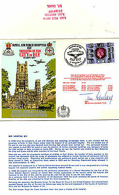 G.B. 1977 -RAF HOSPITAL ELY - FREEDOM OF CITY OF ELY SIGNED by FLT. LT T.CURLEY