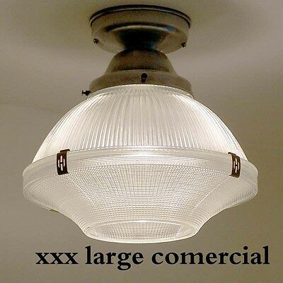 890 Vintage Halophane Ceiling Light Fixture Glass bath  kitchen  pendant