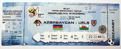 ticket Azerbaijan - Wales national team 2009 World Cup 2010 WC