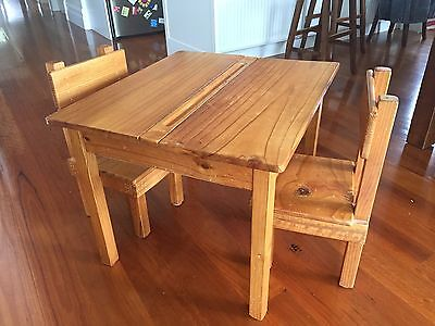 Solid Wooden Table With Two Chairs. Locally Made