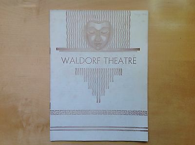 "WALDORF THEATRE Booklet 1930 ""Light Wines And Beer""Staged By Charles Sinclair"