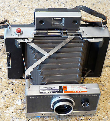 Vintage Polaroid Auto 100 Land Camera Complete with Accessories and Case