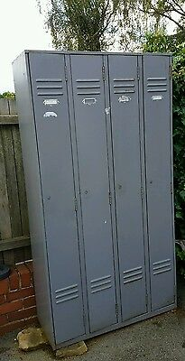 industrial lockers x4 joined