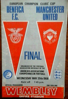 Man Utd V Benfica 29/5/1968 European Cup Final *original*
