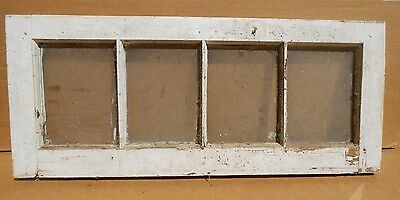"Antique Chic Vtg. 28 1/2"" X 12"" Window Sash, w/ 4 Panes . . . for 5 X 7 Photos ?"