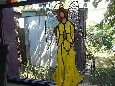 Stained Glass Window Panel Suncatcher   Art Angel
