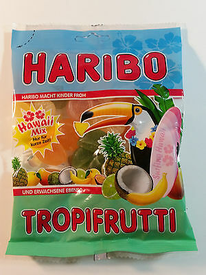 HARIBO TROPIFRUTTI - HAWAII MIX - CANDY WINE GUMS 7oz - 200g - MADE IN GERMANY -