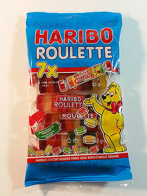 HARIBO 7x ROULETTE - CANDY WINE GUMS  6oz - 7x25g = 175g - MADE IN GERMANY -