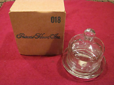 Princess House Heritage Etched Individual Butter Dish (NIB)