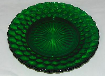"""2 Anchor Hocking BUBBLE GREEN *9 1/4"""" DINNER PLATES*"""