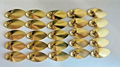 25 IN-LINE LAQUERED COPPER SPINNER BLADES SIZE # 5 SAME AS PANTHER MARTIN blade