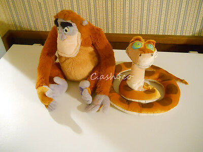 Disney Store Jungle Book plush KAA snake GLOW IN THE DARK EYES & king Louie