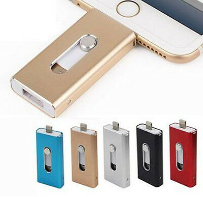 128GB 64GB OTG USB Flash Memory Drive U Disk 3 in 1 for Android/IOS iPhone Paid