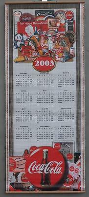 Coca-Cola Coke Bamboo Two Sided Calendar Years 2002 & 2003